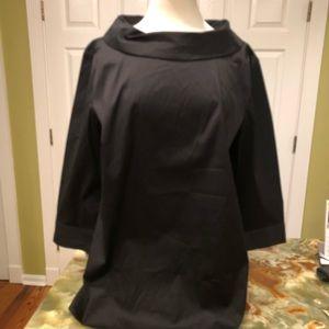 Talbots Black Cuff Collar Blouse. Never worn.